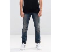 Twister Schmale Jeans in Vintage-Mittelblau Blau
