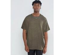 Super-Oversize-T-Shirt in Kalt-Pigmentfärbung, grün Grün