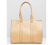 Shopper-Tasche im Bahnendetail Braun