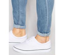 Stoff-Schnürschuhe in Weiß Weiß