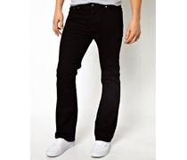 Bootcut-Jeans in Schwarz Schwarz