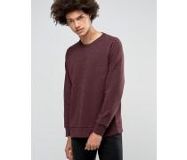 Paris Neps Sweatshirt mit Rundhalsausschnitt Rot