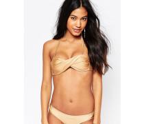 Bikinioberteil mit verdrehter Vorderpartie Gold