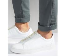 Paul Sneaker aus Leder Weiß