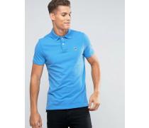Schmales Polohemd in Blau Blau