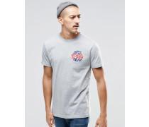 T-Shirt mit kleinem Record-Logo Grau