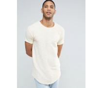 Flanell-T-Shirt Steingrau