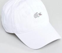 Weiße Baseballkappe mit Logo Weiß