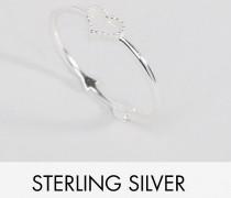 Ring aus Sterlingsilber mit Herz und Pfeil Silber