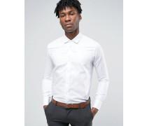 Eelgantes, weißes Dobby-Hemd Weiß