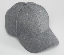 Baseball-Kappe aus Wolle Grau