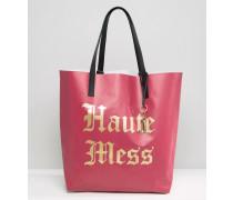 'Haute Mess'-Tragetasche Rot