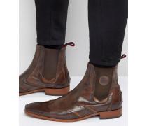 Scarface Chelsea-Stiefel aus Leder Braun
