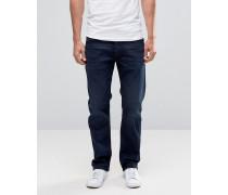 Waykee 677J Gerade geschnittene Jeans in dunklem Indigoblau Blau