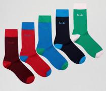 5er-Pack Socken Blau