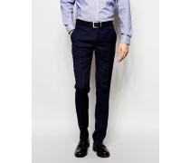 Einfarbige Anzughose Marineblau