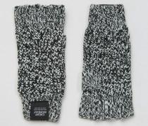 Fingerlose Handschuhe Grau