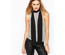 Langer, schmaler Schal im Stil der 70er in Schwarz Schwarz
