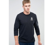 Franklin and Marshall Langarmshirt mit Brustlogo Schwarz