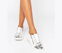 Sneaker mit Zehenkappe Weiß