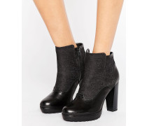 Guardian Heeled Ankle Boots Schwarz
