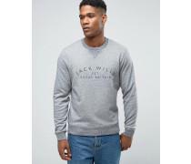 """Sweatshirt mit """"Wills""""-Aufdruck in Granit Grau"""