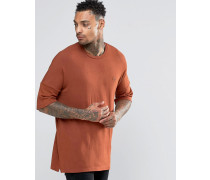 T-Shirt mit tief angesetzter Schulterpartie Orange