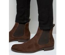 Angelucci Chelsea-Stiefel aus Wildleder Braun