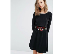 Elton Kleid mit abnehmbarem Gürtel Schwarz