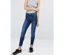 Gerade Jeans aus Bio-Baumwolle Blau