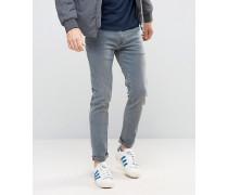 Superenge Jeans in Blaugrau Blau