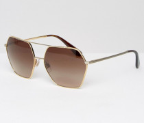 Pilotensonnenbrille Silber
