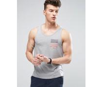 USA-Weste mit Tasche Grau