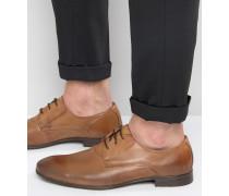 Derby-Schuhe aus Leder Braun