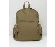 Utility-Rucksack mit Tasche Grün