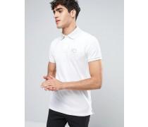Enges Muskel-Poloshirt in Weiß Weiß