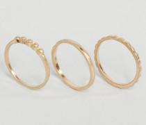 &ndah; Moby Ringe im Set Gold
