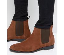 Gerald Chelsea-Stiefel aus Wildleder Bronze