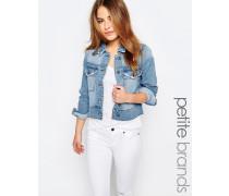 Jeansjacke mit Fransendetail Blau