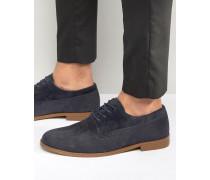 Marineblaue Derby-Schuhe Marineblau