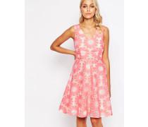 Send Me No Flowers Lets Dance Kleid mit gehäkeltem Blumendesign Rosa