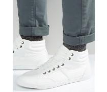 Hohe Schuhe aus Webstoff in Weiß Weiß