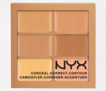 Professional Make-Up 3c Palette zum Abdecken, Korrigieren, Konturieren Mehrfarbig
