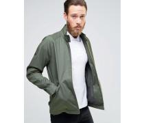 Harrington-Jacke mit Stehkragen in Khaki Grün