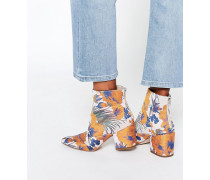 REACH Spitze Jacquard-Ankle-Boots Mehrfarbig