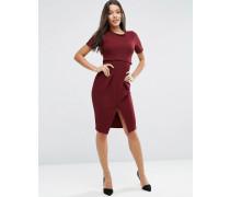 Zweilagiges, texturiertes Kleid Rot