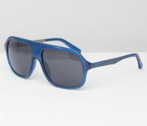 Blaue Visor-Sonnenbrille Blau