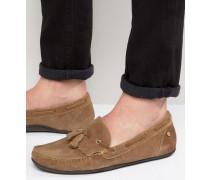 Nevis Loafers aus hellbraunem Wildleder Bronze