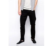 Wednesday Schmal geschnittene Jeans in Schwarz Schwarz