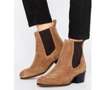 Femme London Stiefel aus Wildleder Beige